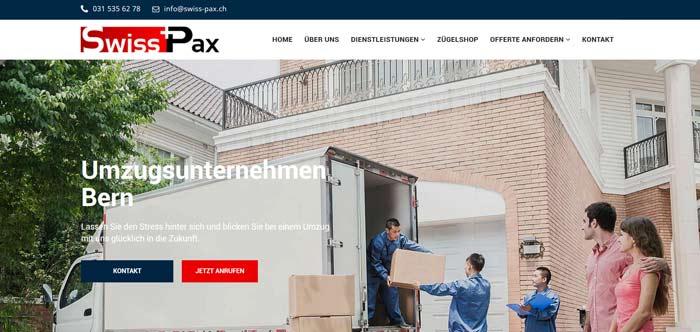 Swiss-Pax ist Ihre Umzugsfirma in Bern