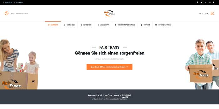 Fair Trans – Ihr Umzugsunternehmen in Zürich
