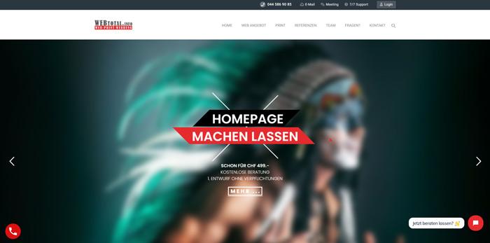 Wir gestalten Ihre Homepage